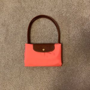 Longchamp Bags - NEW Longchamp Le Pliage Nylon Large Tote in Coral